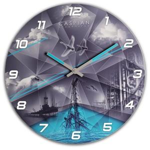 Настенные часы Каспий 3D
