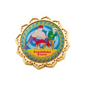Значок Казахская борьба