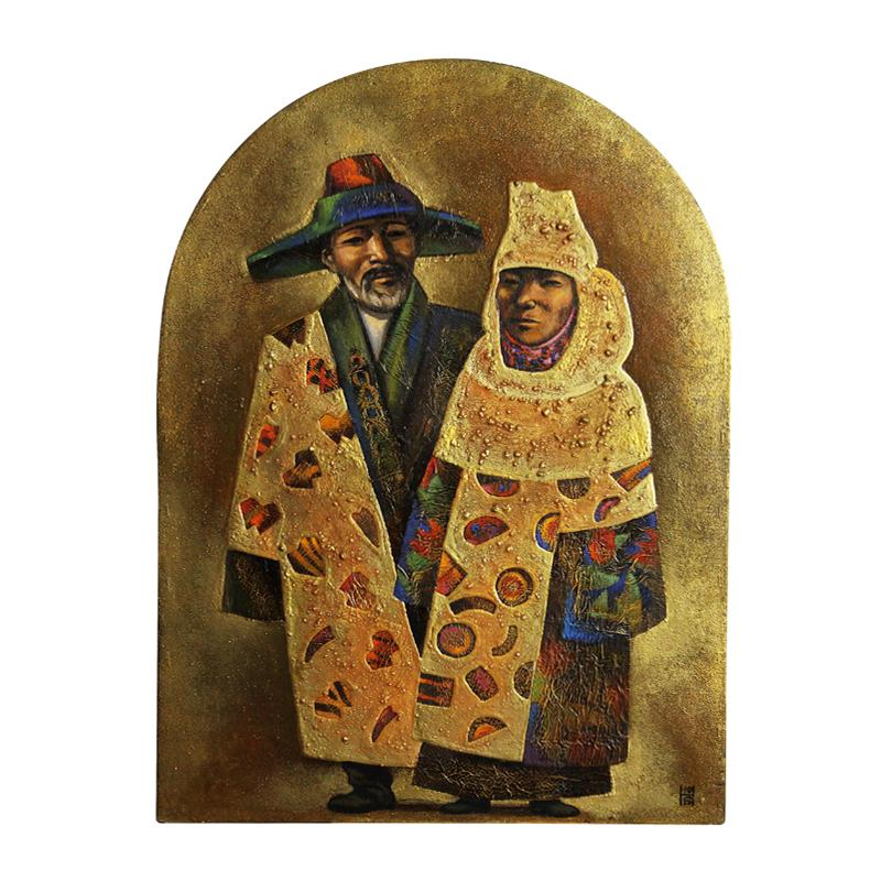 Painting from Turkic Costume cycle (diptych)