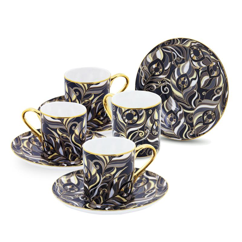 Coffee set Peacock