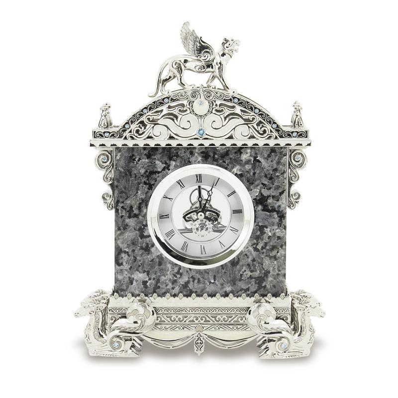 Table clock Winged leopard