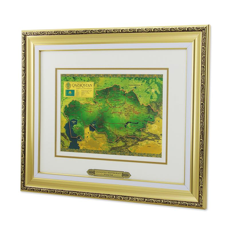 Панно Золотая карта Казахстана