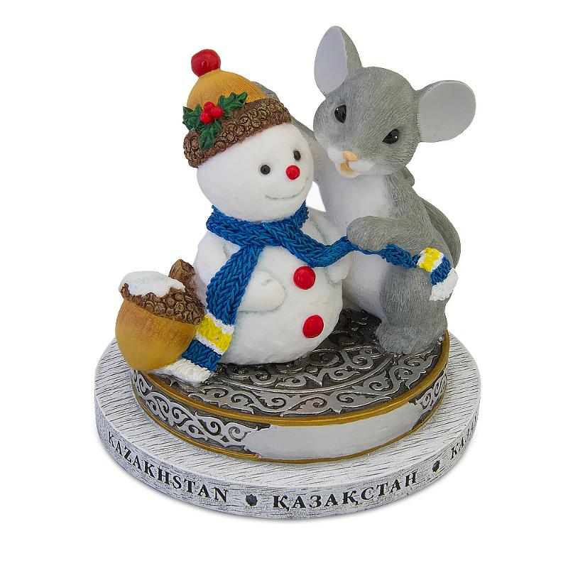 Table statuette Christmas mouse