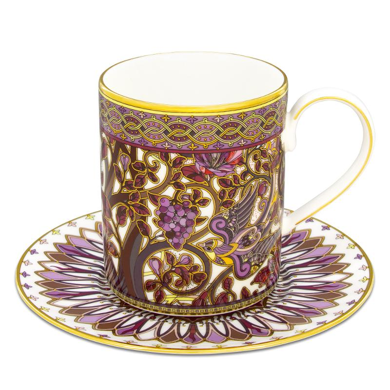 Mug and saucer from the Tree of paradise collection