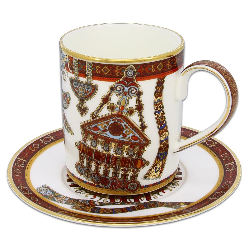 Mug and saucer from the Tumar collection