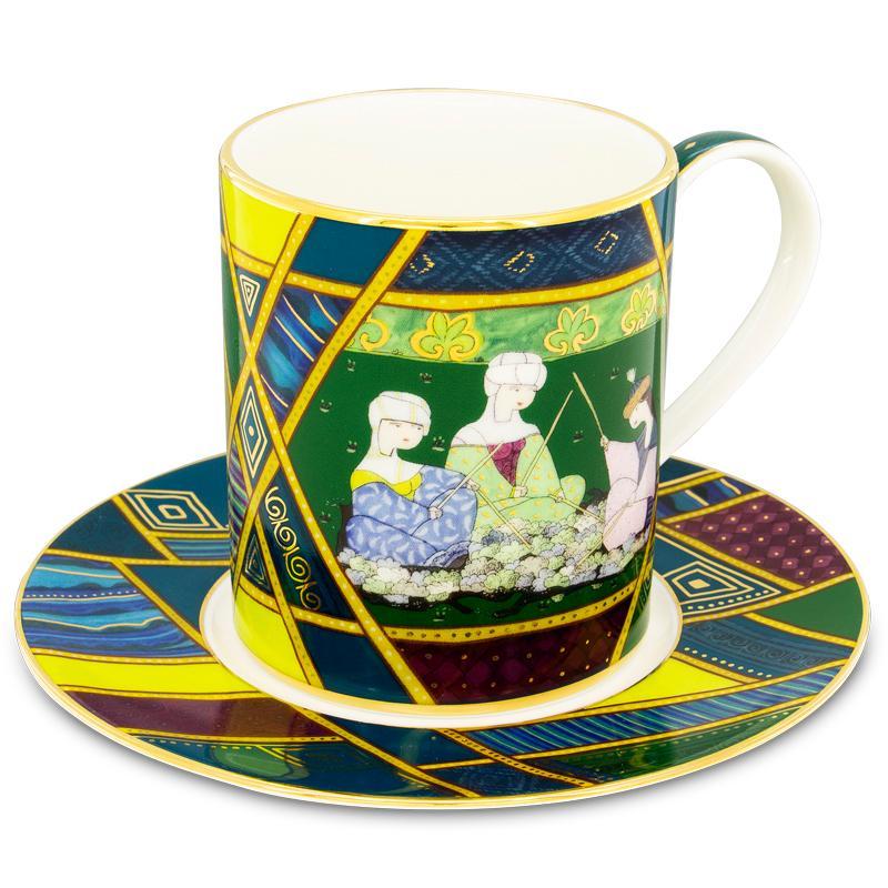 Inspiration mug with saucer