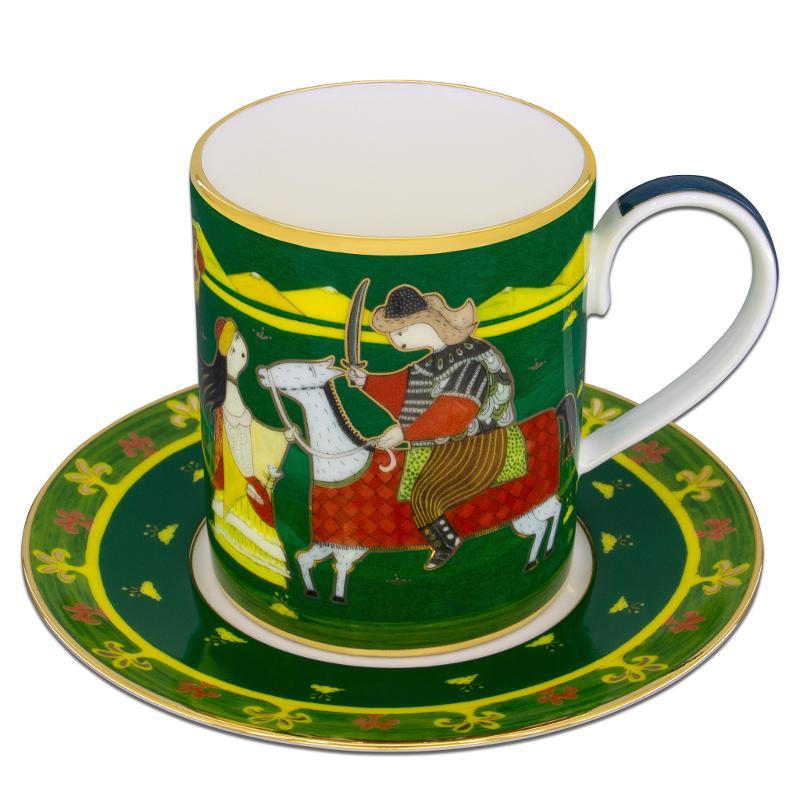 Kuanysh mug with saucer