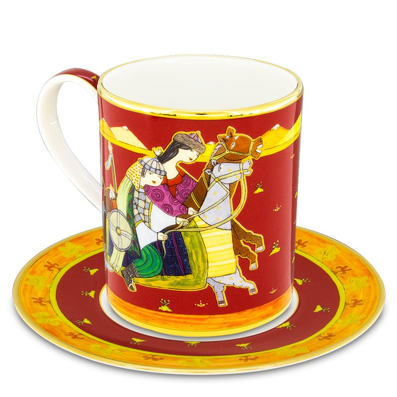 Mahabbat mug with saucer