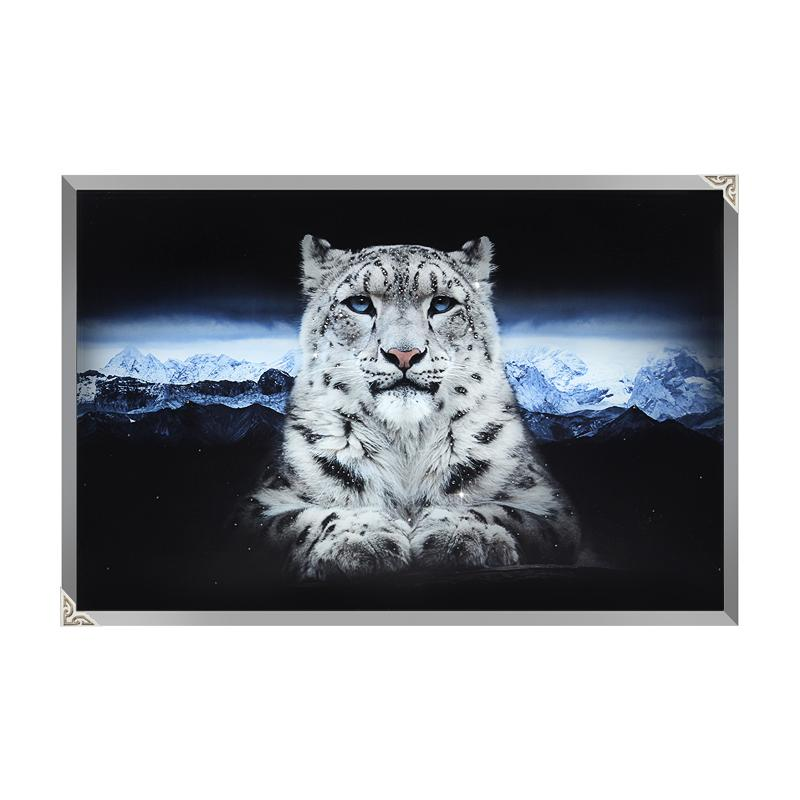 Snow leopard panel painting/art