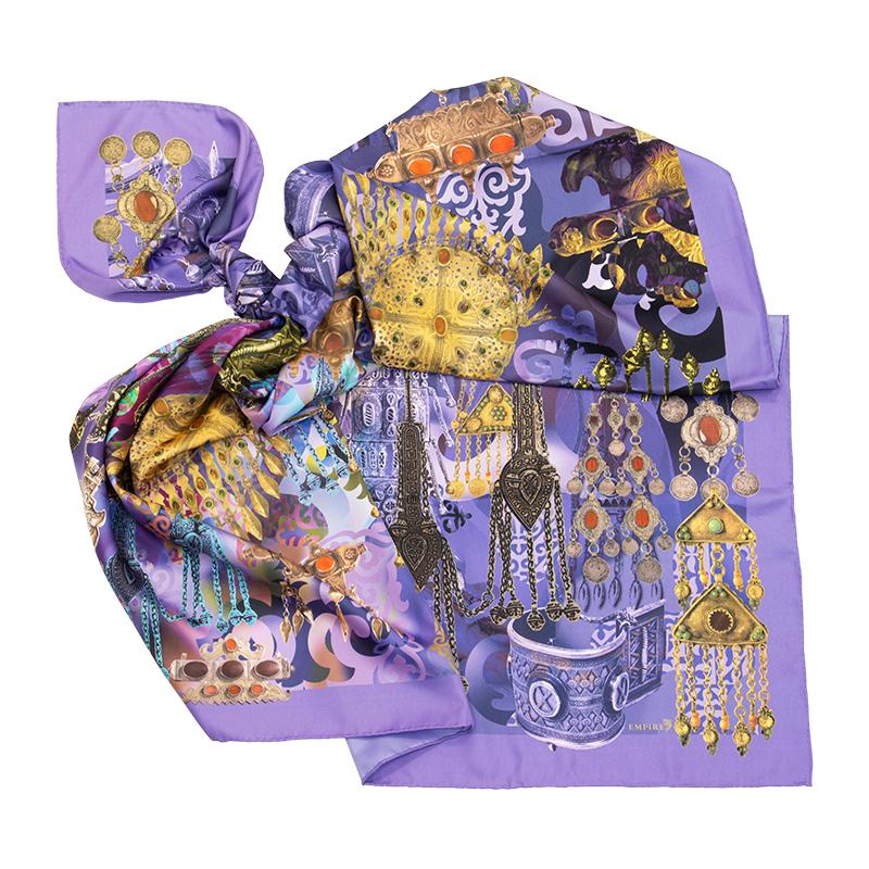 Платок Айсулу фиолетовый